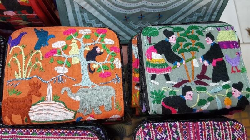 ラオス民族柄の刺繍