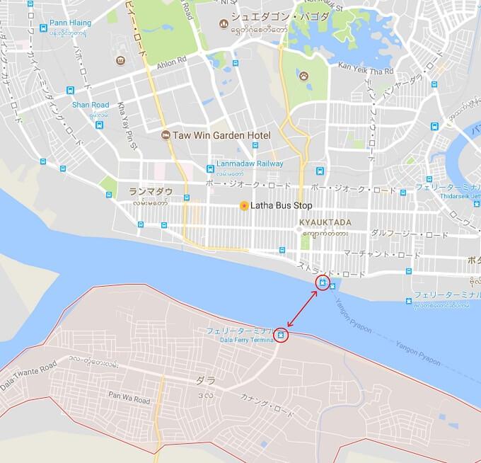 ダラ船乗り場地図